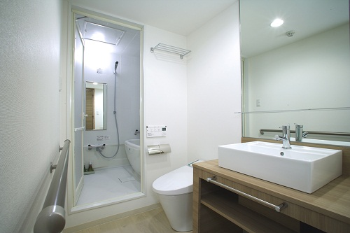 ファミリーツインルームの洗面室